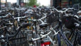 Copenhagen view. Copenhagen city with bikes on 2015 July Stock Photos