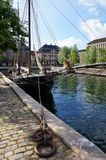 Copenhagen view with sailship Royalty Free Stock Photos
