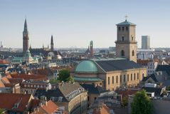 Copenhagen - Vor Frue Kirke Royalty Free Stock Photo