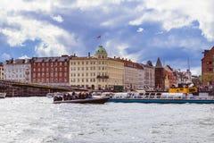Copenhagen water canal Royalty Free Stock Photos