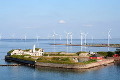 Copenhagen Wind Farm Royalty Free Stock Image