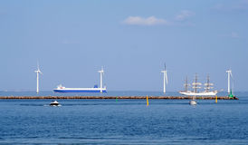 Copenhagen Wind Turbines Royalty Free Stock Photography