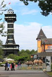 Copenhagen zoo. Dominated by the lookout tower, Denmark stock images