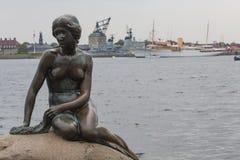 COPENHAGHEN, DANIMARCA - IL 07 SETTEMBRE: Una statua famosa del littl Fotografie Stock