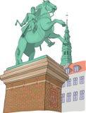 copenhaghen denmark Illustrazione di vettore illustrazione di stock