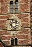 copenhaghen denmark L'orologio sulla torre del castello di Frederiksborg immagine stock libera da diritti