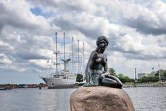 Copenhaghen la piccola sirena Fotografie Stock Libere da Diritti