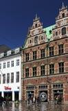 Copenhaghen, via di Stroget Fotografie Stock Libere da Diritti