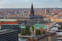 copenhaghen Vista aerea della città fotografie stock