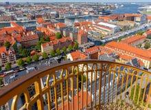 copenhaghen Vista aerea della città fotografia stock libera da diritti
