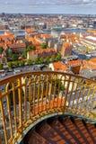 copenhaghen Vista aerea della città fotografie stock libere da diritti