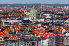 copenhaghen Vista aerea della città immagine stock