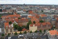 Copenhaghen, vista da sopra Fotografie Stock Libere da Diritti