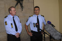 COPENHAGN POLICE HOLD JOINT PRESS CONFERENCE Stock Photos