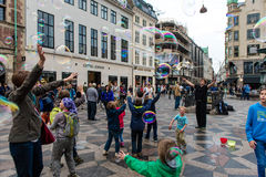 COPENHAGUE, DANEMARK - 24 AOÛT 2015 : Attraction de bulle à Copenhague du centre, Danemark Photo libre de droits