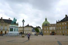 COPENHAGUE, DANEMARK - 31 MAI 2017 : vue d'Amalienborg Slotspla image stock