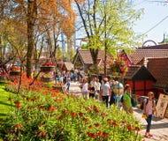 Copenhague, Danemark - visiteurs et touristes aux jardins de Tivoli Photos libres de droits