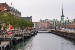 Copenhague - 17 de octubre de 2016: Vista al Borsen (Borsen) que construye el 17 de octubre de 2016 Fotografía de archivo