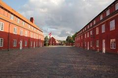 Copenhague, Dinamarca - agosto 21,2017: Una casa hermosa y colorida en un día de verano fotos de archivo