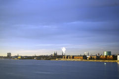 Copenhague, Dinamarca Visión exterior desde el estrecho de Oresund Foto de archivo