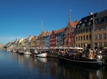 Copenhague en el río Fotos de archivo libres de regalías