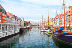 Copenhague, Nyhavn Photo libre de droits