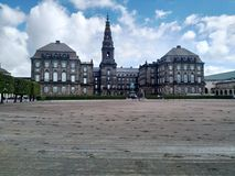 Copenhagen palace. Clear sky and perfect light to enjoy the architecture royalty free stock images