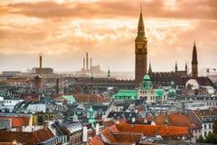 Copenhague, paysage urbain du Danemark image stock