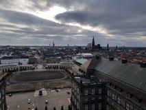 Copenhague vanaf de bovenkant royalty-vrije stock foto