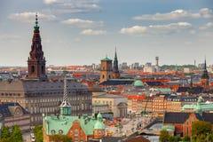 copenhague Vista aérea de la ciudad fotos de archivo libres de regalías
