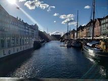 Copenhague Zonnige dag stock afbeelding