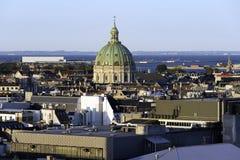 Copenhangen, vista aerea della Danimarca dell'orizzonte fotografie stock libere da diritti
