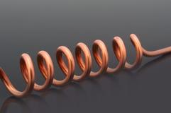 Coper spiral Royalty Free Stock Image