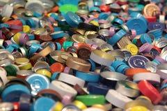 Coperchi dell'alluminio Immagini Stock Libere da Diritti