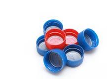 Coperchi della bottiglia Fotografie Stock