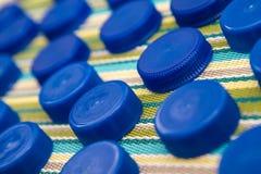 Coperchi di plastica Fotografie Stock