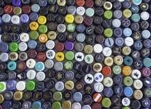 Coperchi a vite della bottiglia di vino Fotografia Stock Libera da Diritti