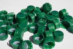 Coperchi a vite usati della bottiglia Immagine Stock Libera da Diritti