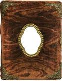 Coperchio antico dell'album della peluche Fotografia Stock