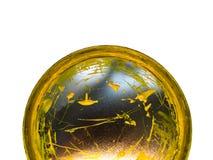 Coperchio con una vernice gialla Fotografia Stock Libera da Diritti