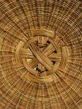 Coperchio del cestino tessuto mano del particolare Fotografie Stock