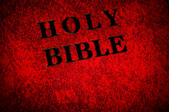 coperchio del libro della bibbia Fotografie Stock