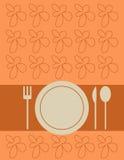 Coperchio del menu illustrazione di stock