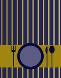 Coperchio del menu Fotografia Stock