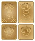 Coperchio del menu del cuoco unico o scheda - insieme di vettore Immagini Stock