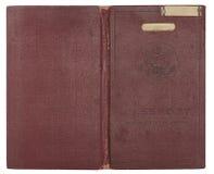 Coperchio del passaporto degli Stati Uniti dell'annata Fotografie Stock
