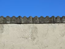Coperchio del tetto dell'amianto Fotografie Stock Libere da Diritti
