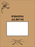 Coperchio dell'album di foto Immagini Stock