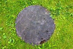 Coperchio di botola concreto Immagini Stock