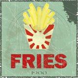 Coperchio di Grunge per il menu degli alimenti a rapida preparazione Immagini Stock Libere da Diritti